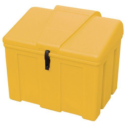 Heavy duty lockable 110L salt and grit bin