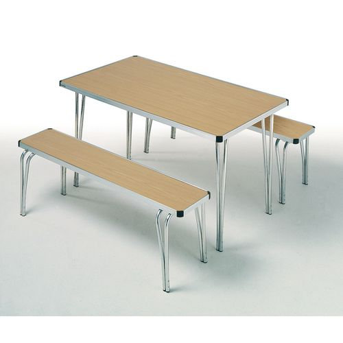 Aluminium edge folding bench seat