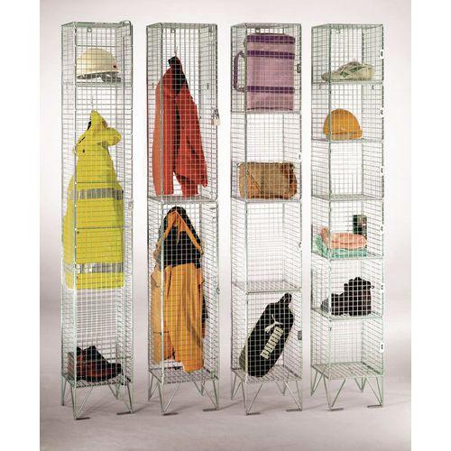 Heavy duty wire mesh lockers (8mm dia.)