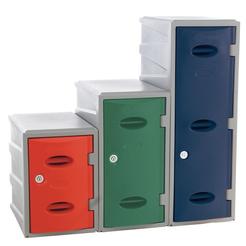 Heavy duty plastic modular lockers