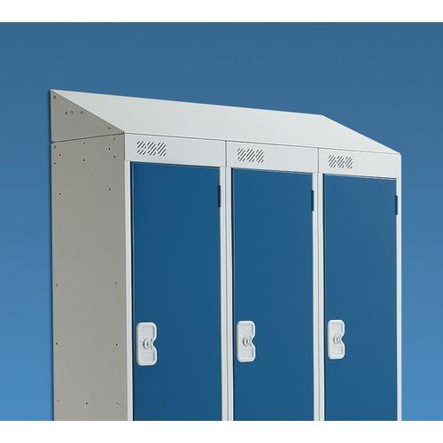 Coloured door lockers - Sloping top