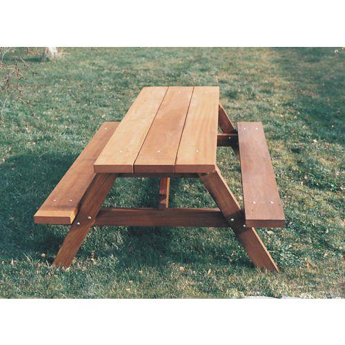 Heavy duty wooden picnic table