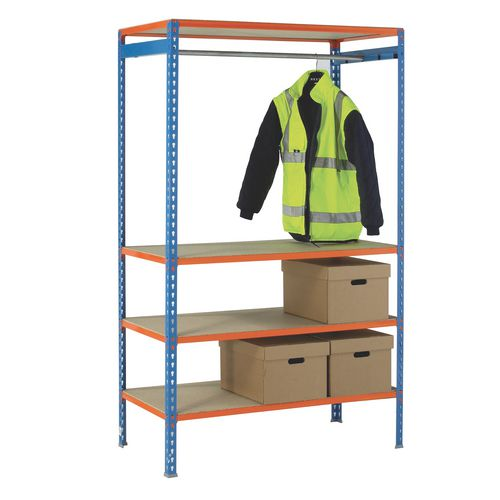 Garment racking and shelving - 3 shelf kit