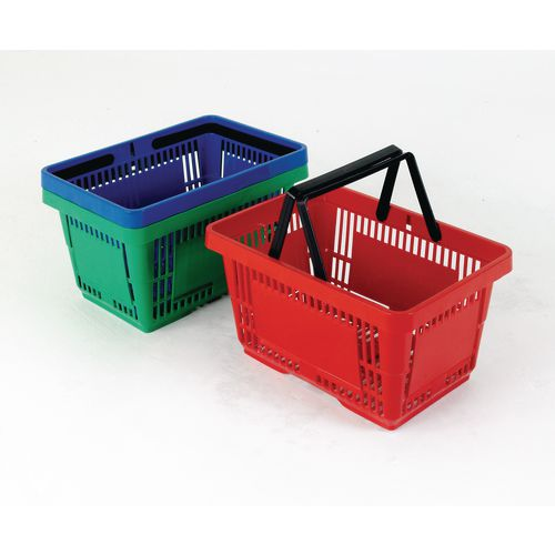 Plastic shopping baskets - pack of 12