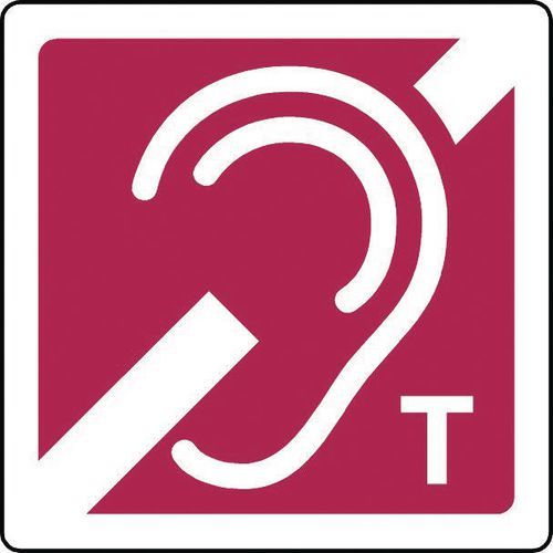 Induction loop 'T' signs