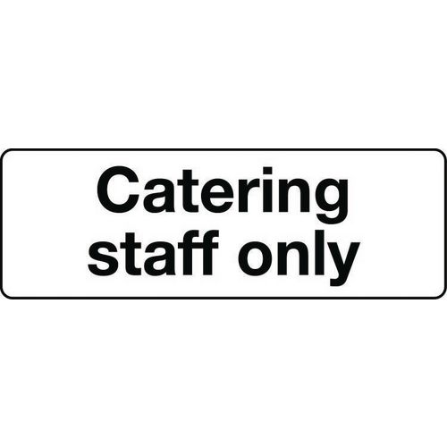 Food processing and hygiene - Catering staff only