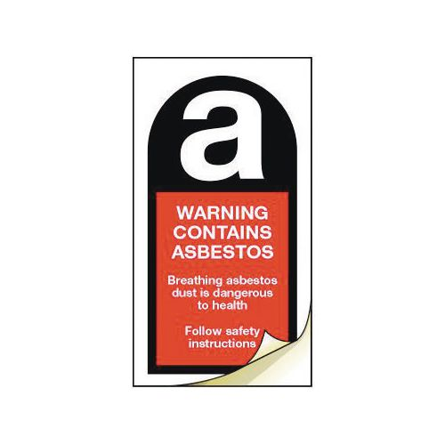 Asbestos safety labels