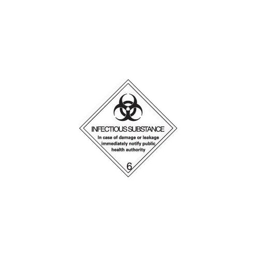 Adr, rid, idgm, iata & icao (labels with class numbers) - Infectious substance