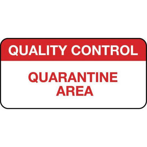 Quality Management Labels Quality Control Quarantine