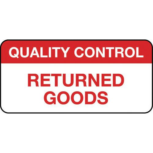 Quality Management Labels Quality Control Returned