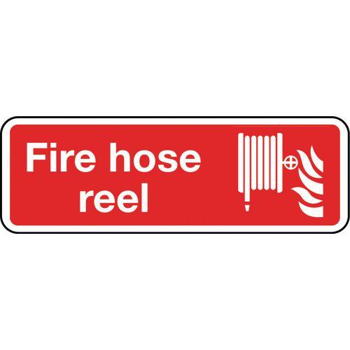 Fire hose reel sign