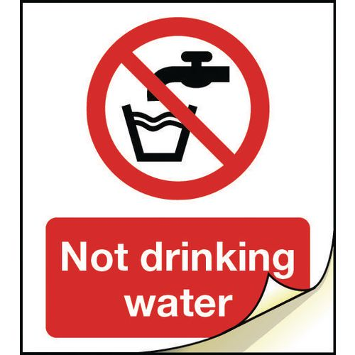 General safety labels - Not drinking water