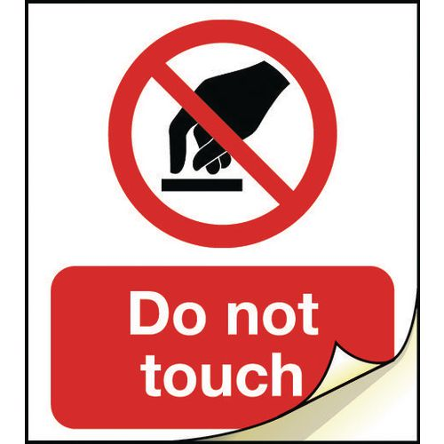 General safety labels - Do not touch