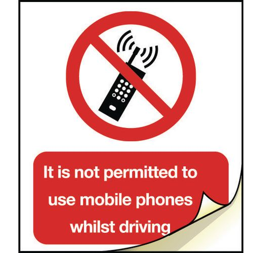 General safety labels - No mobile phone