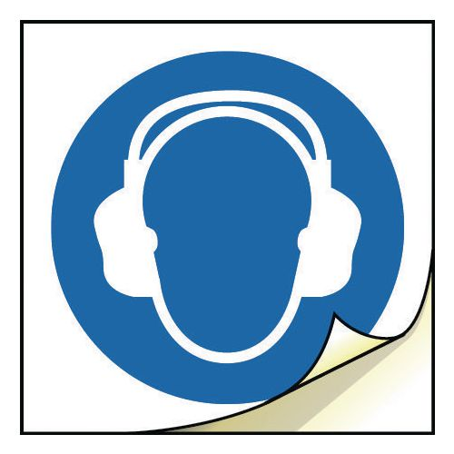 General safety labels - Wear ear protection