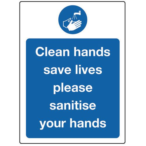 Food processing and hygiene signs