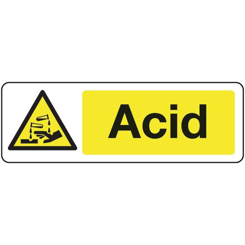 Chemical and substance hazard signs - Acid