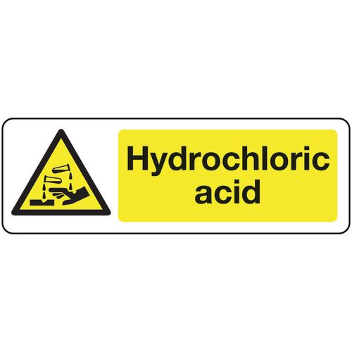 Chemical and substance hazard signs - Hydrochloric acid