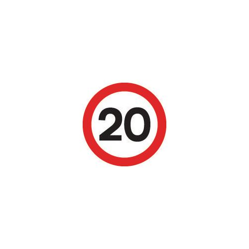 Road traffic signs - 20 MPH