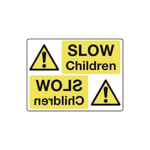 Mirror signs header - Slow children
