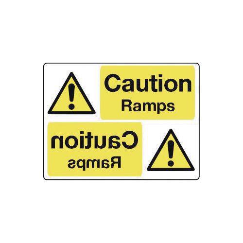 Mirror signs header - Caution ramps