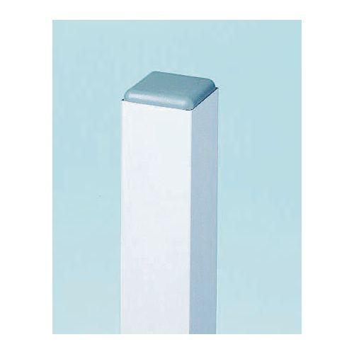 Grey powder coated square aluminium post