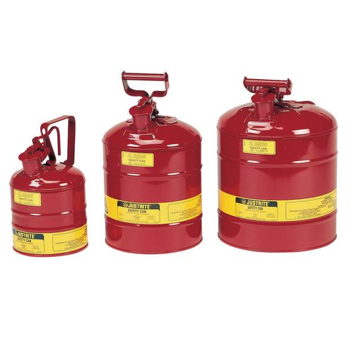Justrite Type 1 safety cans flammable liquid
