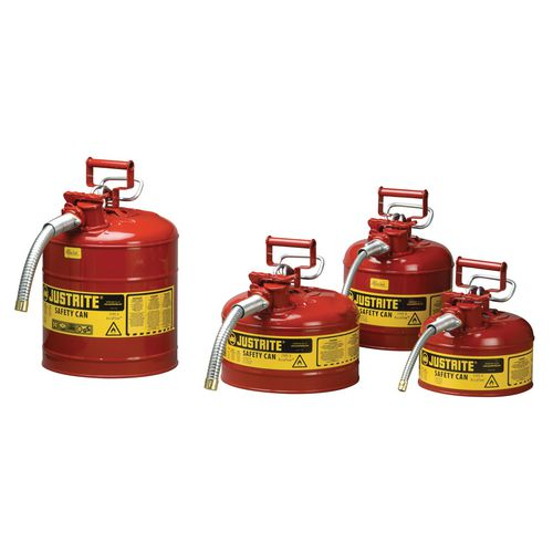 Justrite Type II safety cans flammable liquid