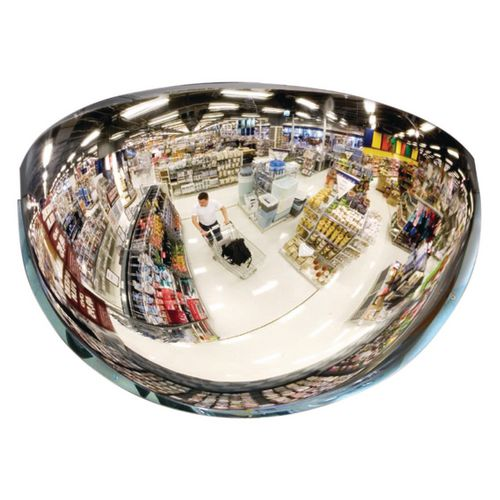Half 180° hemispherical mirror