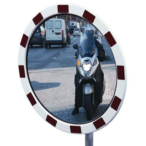 External acrylic traffic mirrors