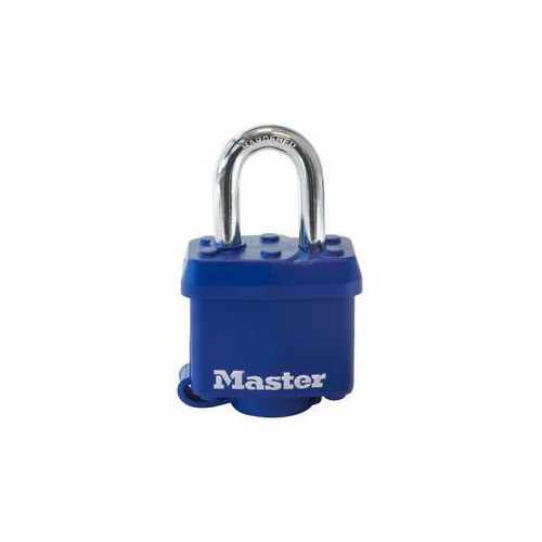 Covered weather resistant steel padlock