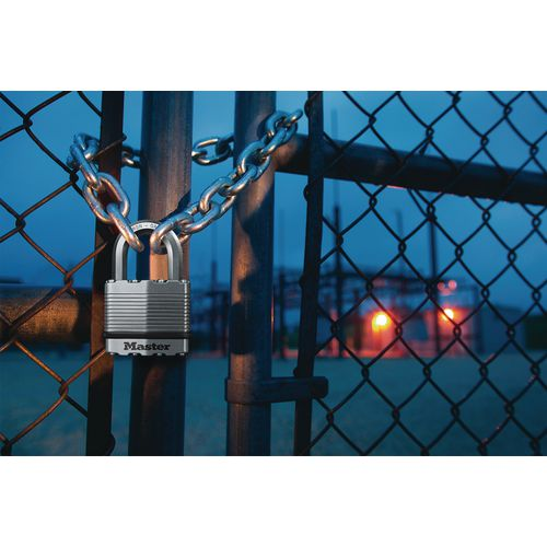 Titanium reinforced steel padlocks