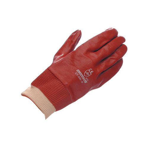 PVC knitwrist gloves and gauntlets