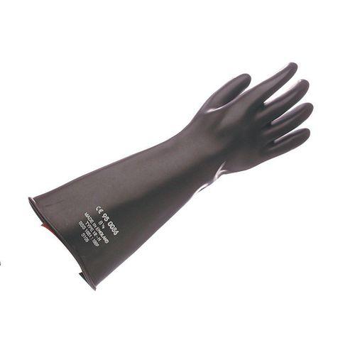 Natural rubber gauntlet