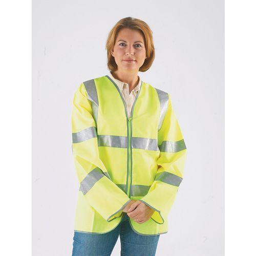 Hi-visibility long sleeved waistcoats to BS EN471 Class III