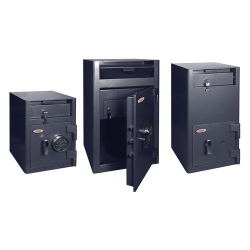 Front loading cashier deposit safe