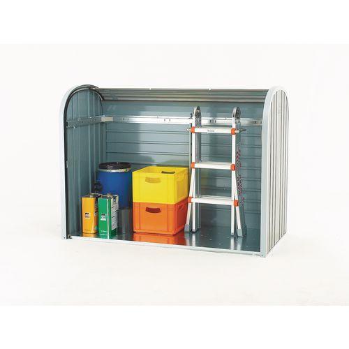 Aluminium roller shutter storage shed