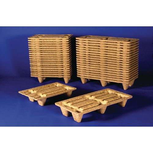 Nesting presswood pallets