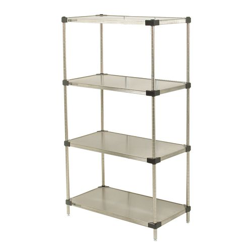 Metro Super Erecta ® solid stainless steel shelving