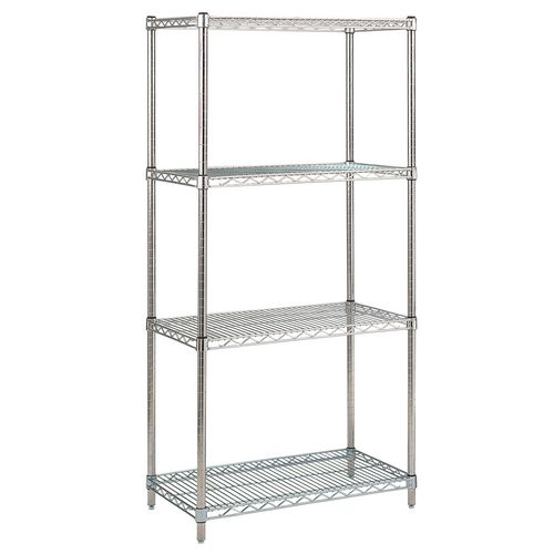 Metric stainless steel wire shelving