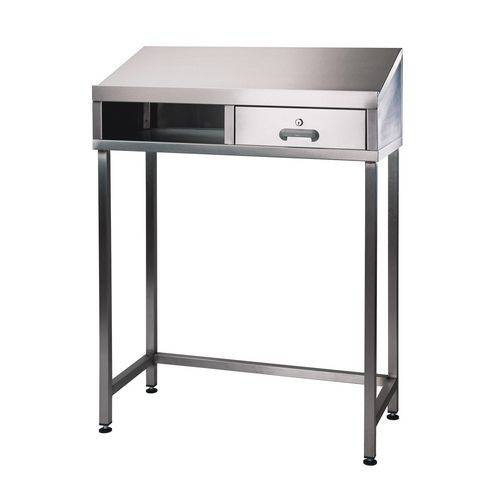 Stainless steel desk units