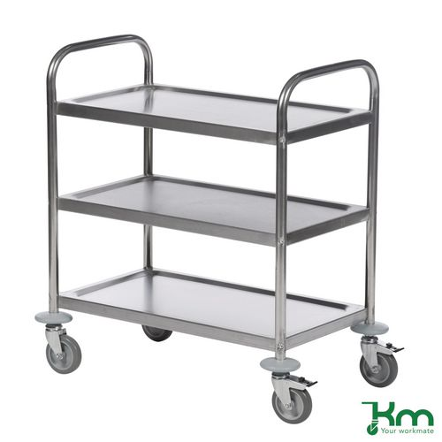 Economy stainless steel clearing trolleys