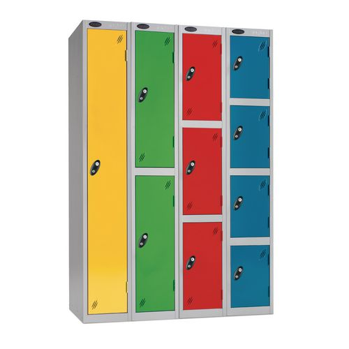 Probe coin operated coloured premium lockers - Coin return
