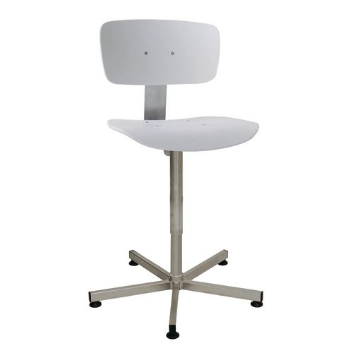 Clean room chair, height adjustable 520-780mm.