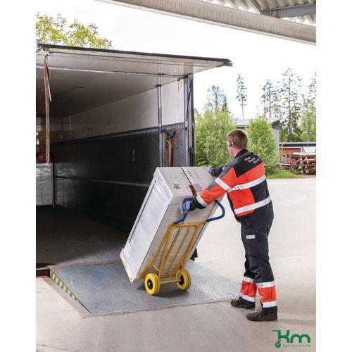 Konga ergonomic sack truck with fixed & folding toe plates, capacity 250kg