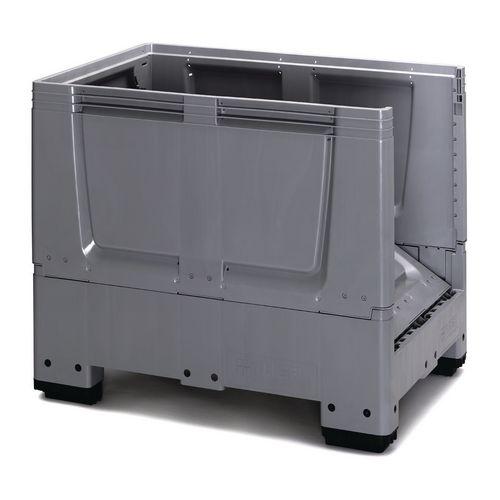 Collapsible plastic pallet box