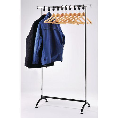 Chrome coat rail and hanger kit