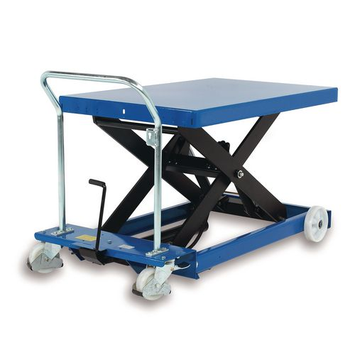 Mobile lift tables - Manually operated mobile lift tables