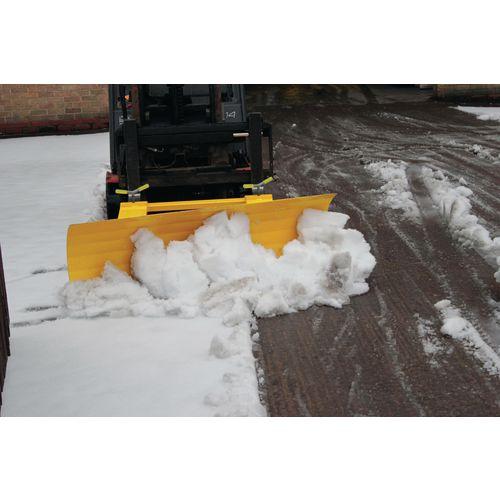 Fork lift snow plough attachment