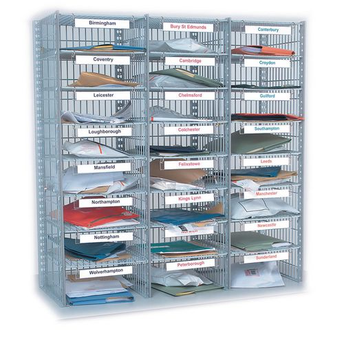 Mail sorting units, additional column